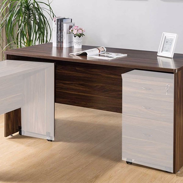 Homeroots Dark Brown Wood Simple Spacious Desk OCN-300057