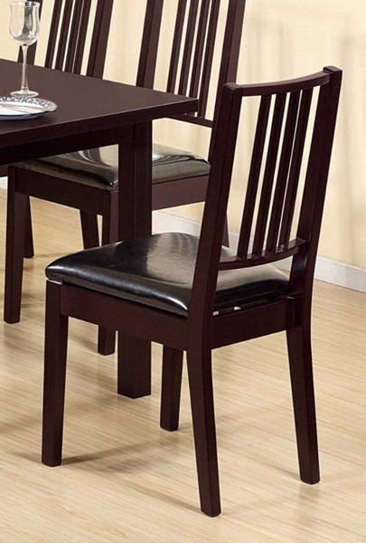 Homeroots Lustrous Dark Brown Wood Dining Chairs OCN-300092-DR-CH-VAR
