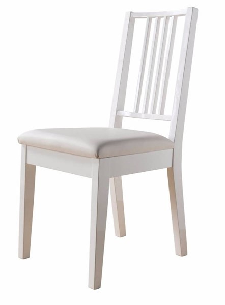 Homeroots Lustrous White Wood Dining Chairs OCN-300093