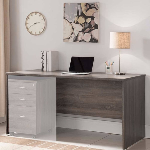 Homeroots Brown Wood Smooth Surface Desk OCN-300123