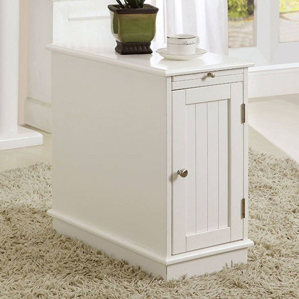 Homeroots Contemporary White Wood Cabinet OCN-300679