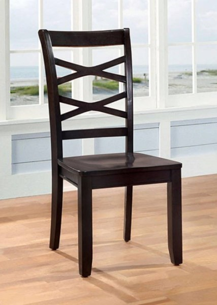 2 Homeroots Espresso Wood Side Chairs OCN-300704