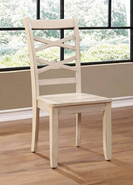 2 Homeroots White Wood Side Chairs OCN-300706