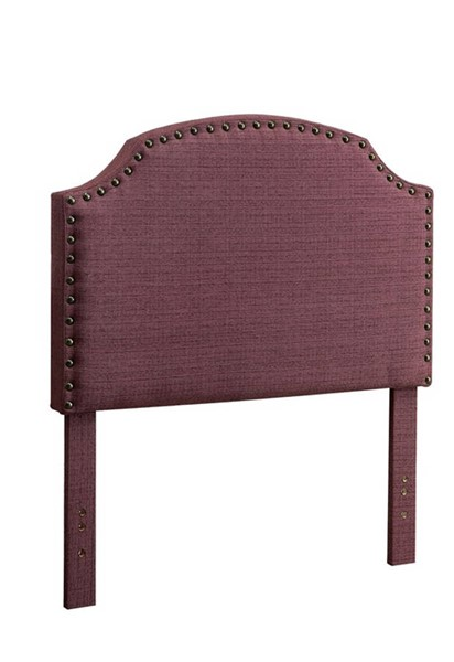HomeRoots Purple Polyester Purple Twin Headboard OCN-300966