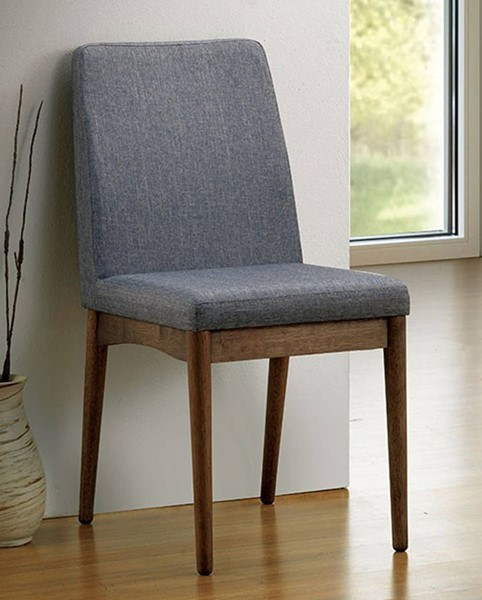 2 Homeroots Gray Fabric Side Chairs OCN-301074