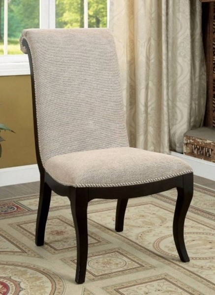 2 Homeroots Espresso Solid Wood Side Chairs OCN-301075