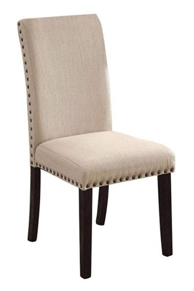 2 Homeroots Ivory Linen Side Chairs OCN-301124