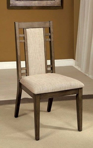 2 Homeroots Gray Fabric Solid Wood Side Chairs OCN-301182