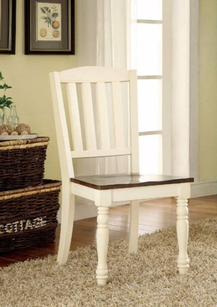 2 Homeroots White Cherry Wood Side Chairs OCN-301184
