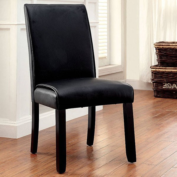 Homeroots Black Leatherette Solid Wood Side Chairs OCN-301307-DR-CH-VAR