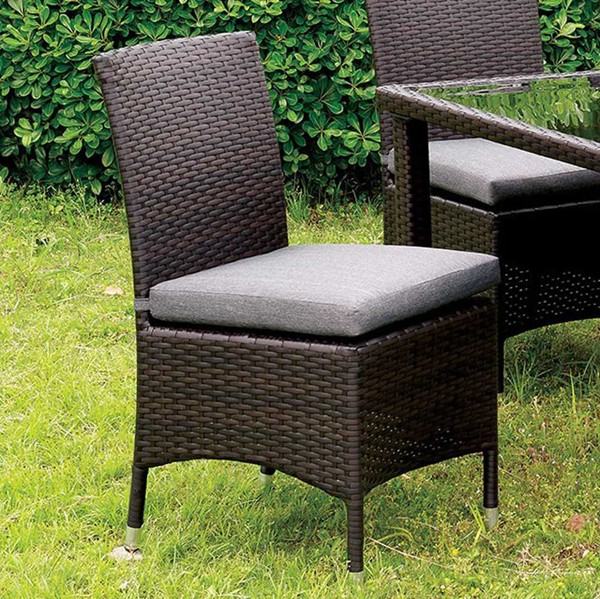 2 Homeroots Contemporary Gray Fabric Side Chairs OCN-301385