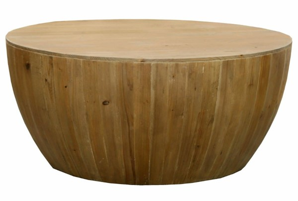 Homeroots Natural Recycled Fir Finely Cocktail Table OCN-302429