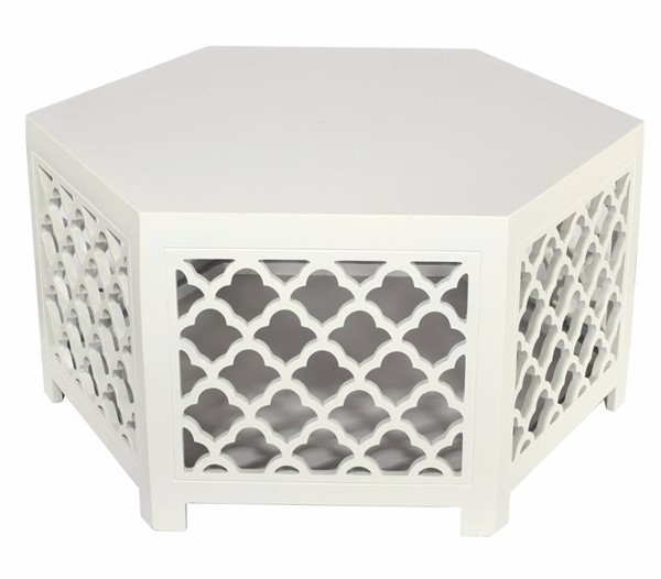 Homeroots White MDF Cocktail Table OCN-302441