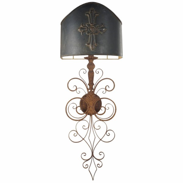 HomeRoots Black Metal Beautifully Executed Wall Sconce OCN-302453