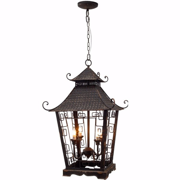 HomeRoots Black Iron Dramatically Designed Sensational Chandelier OCN-302525