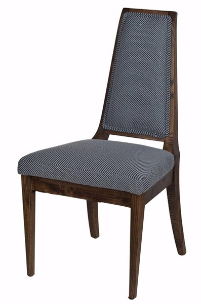 Homeroots Maeva Blue Fabric Silhouetted Chair OCN-302578