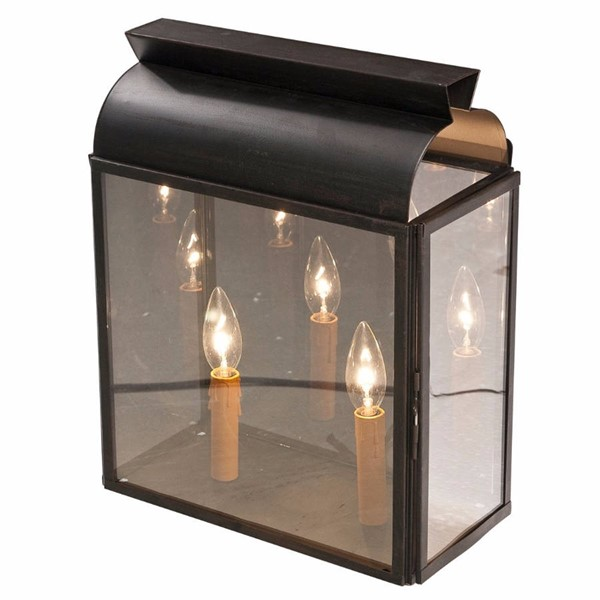 HomeRoots Black Metal Glass Simple Yet Commendable Wall Lamp OCN-302606