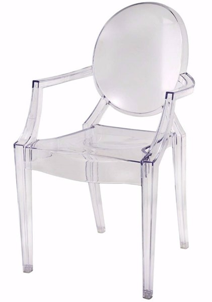 Homeroots Clear Acrylic Transparent Sublime Atelier Ghost Chair OCN-302624