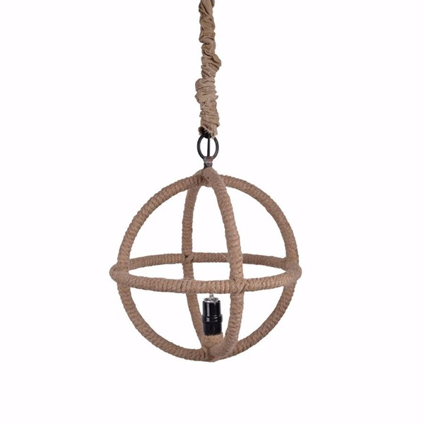 HomeRoots Ivory Rope Iron Beautifully Tangled Chandelier OCN-302665