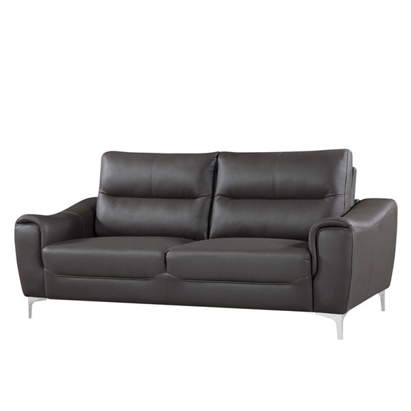 HomeRoots Gray Stationary Living Room Sofa OCN-302883