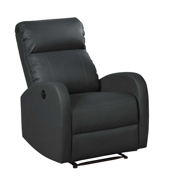 HomeRoots Black Small Power Reading Recliner OCN-302887