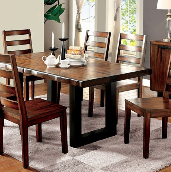 Homeroots Tobacco Oak Wood Dining Table OCN-303072