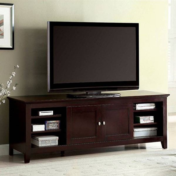 Homeroots Dark Cherry Wood 72 Inch TV Console OCN-303109