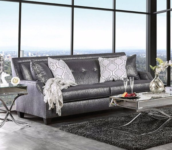 HomeRoots Black Polyester Elite Sofa OCN-303182