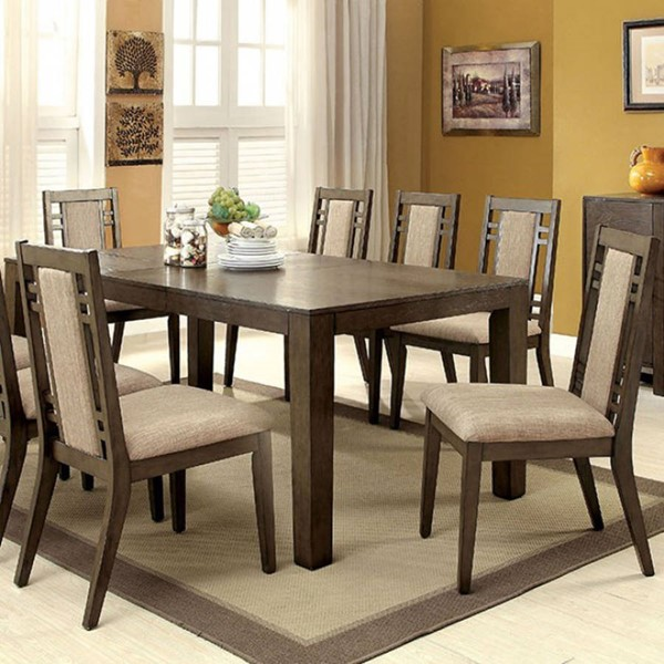 Homeroots Modern Brown Wood Dining Table OCN-303349