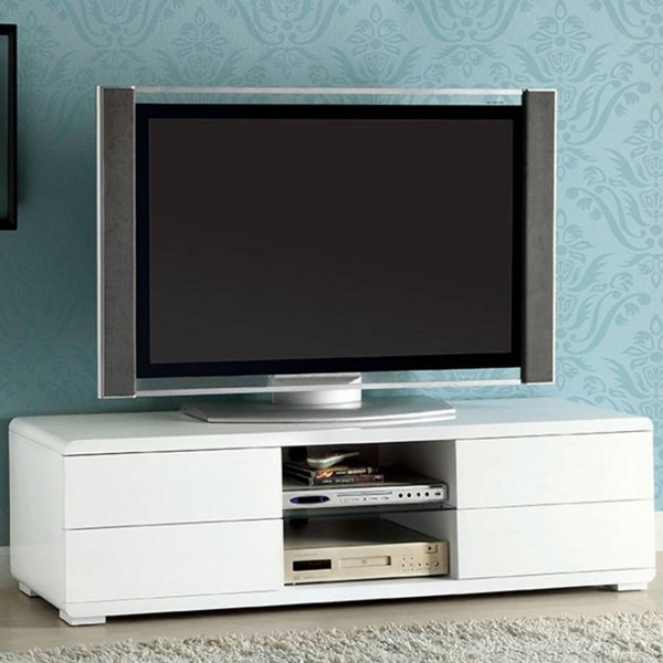 Homeroots White Lacquer 59 Inch TV Console OCN-303399