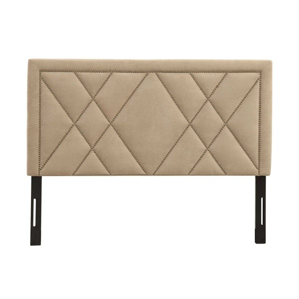HomeRoots Beige Nailhead Cal King Headboard OCN-304412