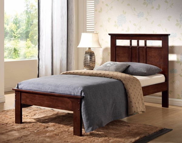 HomeRoots Brown Wooden Panel Twin Headboard OCN-304979