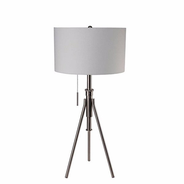 HomeRoots Brushed Steel Contemporary Table Lamp OCN-306917