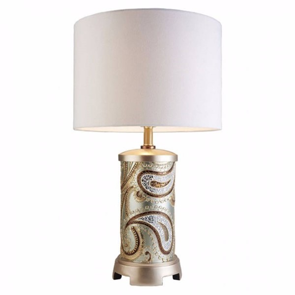 HomeRoots Gold Wood Traditional Table Lamp OCN-306918