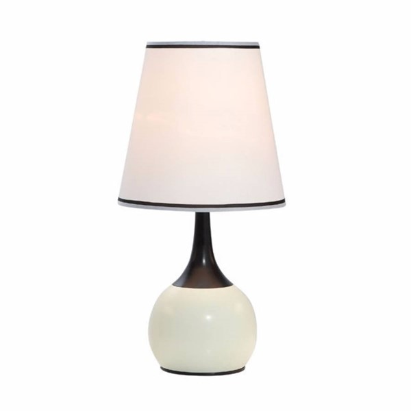 HomeRoots White Frosted Glass Contemporary Touch Lamp OCN-306925