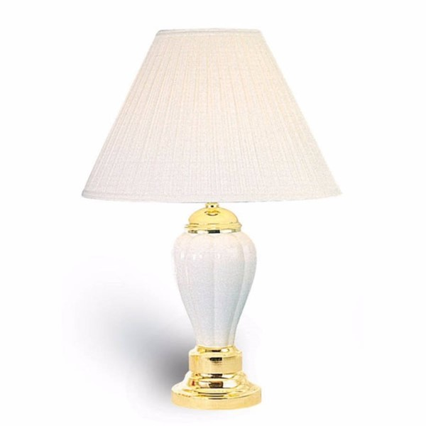 6 HomeRoots Ivory Ceramic Traditional Table Lamps OCN-306931