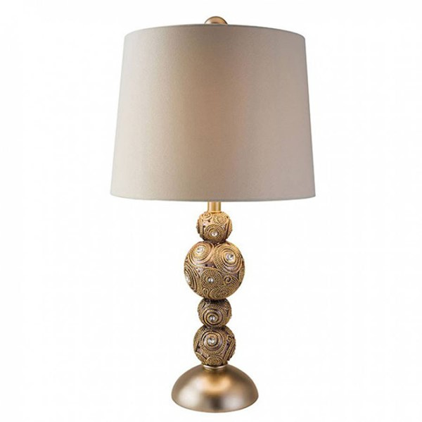 HomeRoots Gold Polyresin Traditional Table Lamp OCN-306984