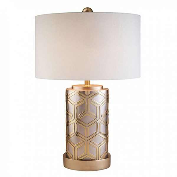 HomeRoots Rose Gold Polyresin Table Lamp OCN-306985