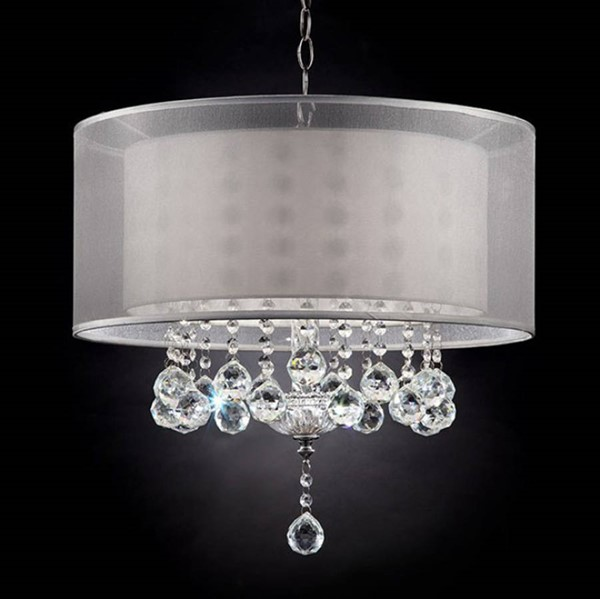 HomeRoots Silver Metal Traditional Ceiling Lamp OCN-307052