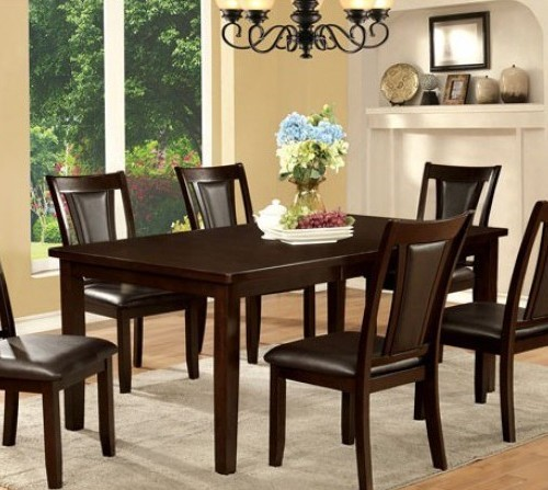 Homeroots Dark Cherry Wood 18 Inch Leaf Dining Table OCN-307140