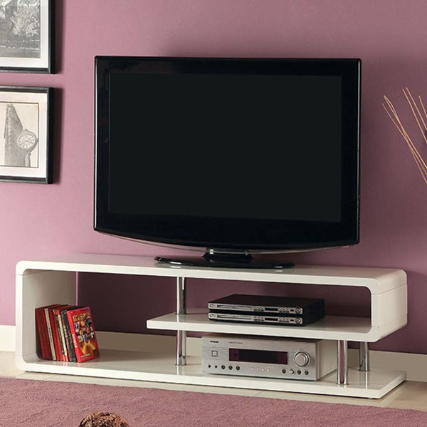 Homeroots White Lacquer TV Console OCN-307160