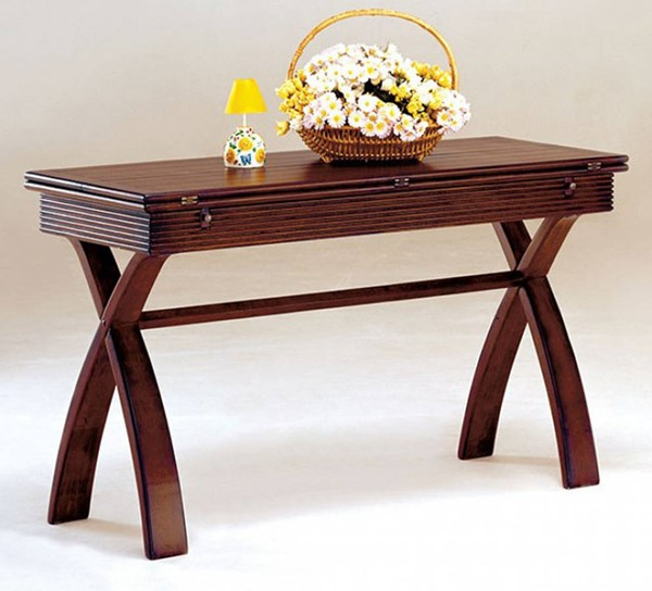 Homeroots Cherry Wood Console Table OCN-307280