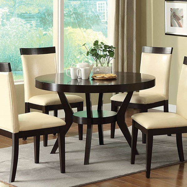 Homeroots Espresso Wood Round Dining Table OCN-307383