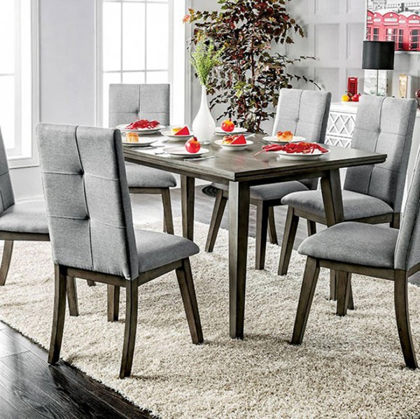 Homeroots Gray Wood Rectangular Dining Table OCN-307460