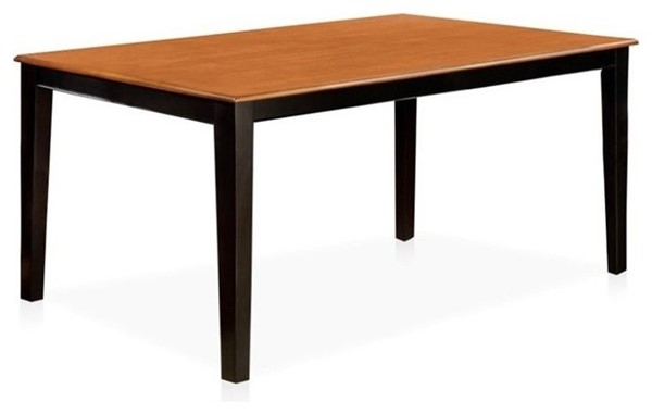 Homeroots Black Cherry Wood Rectangle Dining Table OCN-307461