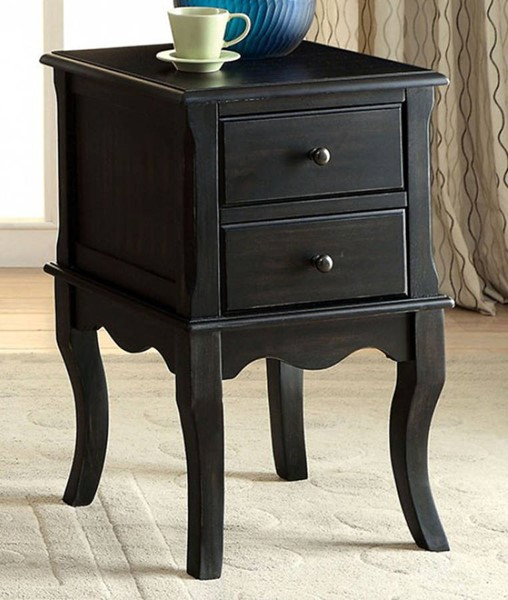 Homeroots Antique Black Solid Wood Rustic Side Tables OCN-307529-ET-VAR