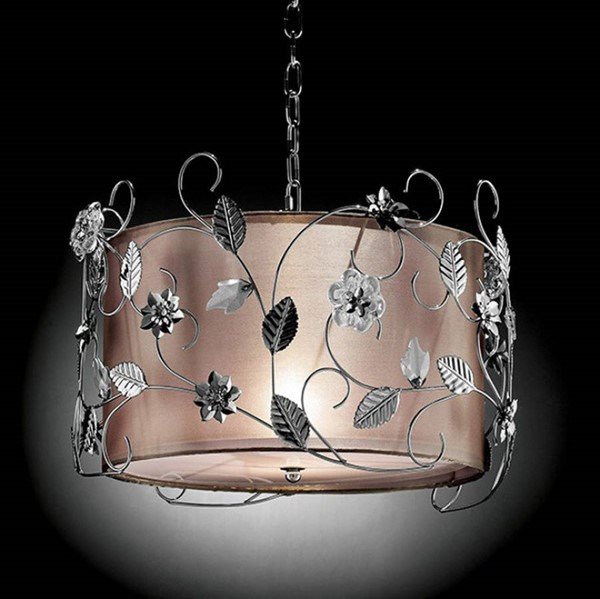 HomeRoots White Crystal Ceiling Lamp OCN-307571