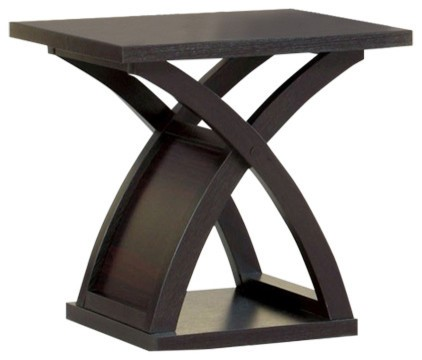 Homeroots Dark Walnut Solid Wood End Table OCN-307594
