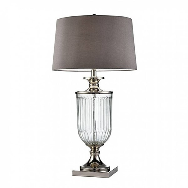 HomeRoots Translucent Glass Contemporary Table Lamp OCN-307676