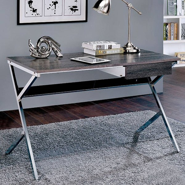 Homeroots Gray Wood Computer Desk OCN-307690